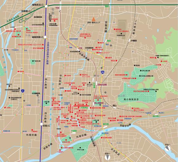 周辺観光名所マップ