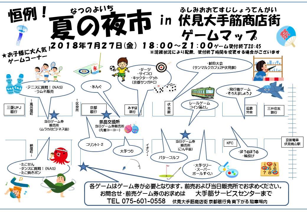 平成30年7月27日(金)夏の夜市ゲームマップ